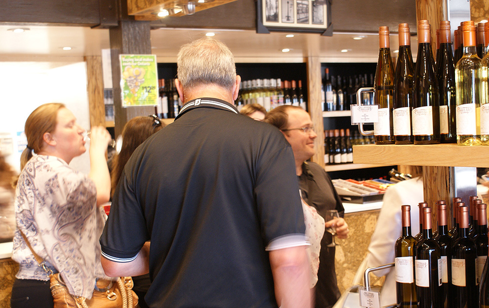 sampling wine at niagara-on-the-lake winery